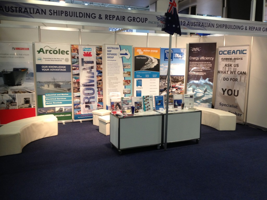 Pacific 2013, ASRG stand 5U12a